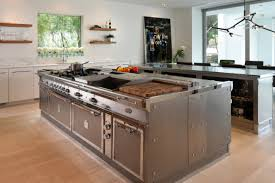 kitchen island with stainless top stainless steel kitchen island unfinished with seating boos butcher