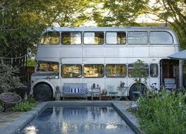 pool house vintage bus becomes new orleans pool house urban ghosts