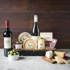 wine and cheese gift baskets wine cheese baskets shop ted s butcherblock