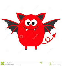 cute happy halloween clipart funny monster with fang tooth and wings cute cartoon character