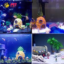 aquarium decoration spongebob decor ornament resin fish tank