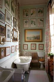 vintage bathroom gallery wall from the book the english country
