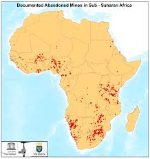 African Countries Map Environmental U0026 Health Impacts Of Abandoned Mines In Sub Saharan