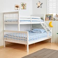 FoxHunter Bunk Bed Wooden Frame Children Kids Triple Sleeper No - Triple bunk bed wooden