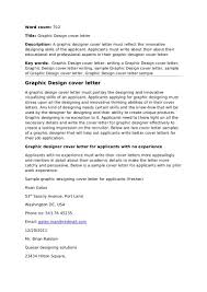 Cover Letter For Work Experience Cover Letter For Graphic Design Position Image Collections Cover