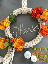 thanksgiving wire word blessed wreath create your own word with