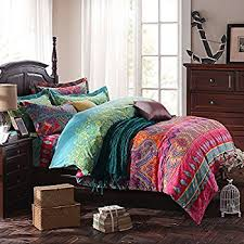 Us King Size Duvet Dimensions Amazon Com Fadfay Home Textile Boho Style Bedding Set Boho Duvet