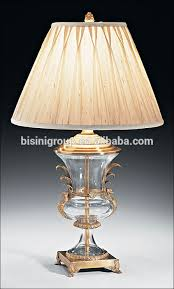 Brass And Crystal Table Lamps Royal Antique Solid Crystal Brass Candle Holder For Buffet Bf11