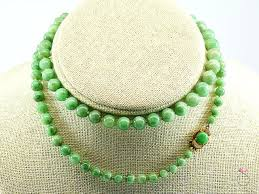 bead necklace clasp images Natural green jade graduated bead necklace 25 inchesclasp sbej jpg