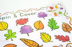 free fall colors printable activities preschoolers