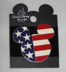 Disney Flag Disney Patriotic Mickey Mouse Head American Flag 2002 Large
