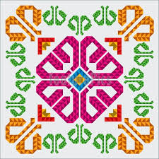traditional mexican ornament fragment illustration