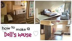 Diy Dollhouse Furniture Diy Modern Barbie Doll House Recycled Cardboard Box U0026 Diy