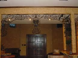 custom scroll work with crosses old world tuscan traditional