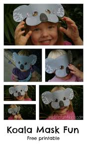 free koala mask printable masking free and craft