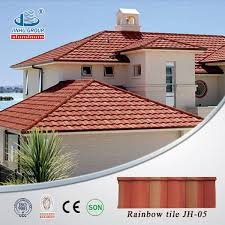 Roof Tiles Types Roof Covering Sheets Al Zinc Steel Material And Bent Tiles Roofing