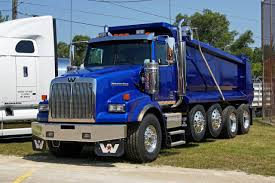 western star custom 4900s quad axle dump work trucks pinterest