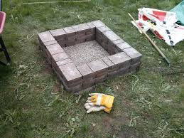 build outdoor fire pit houses designing ideas