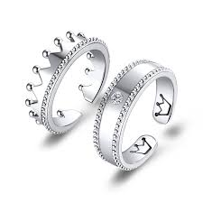 ball rings images Exquisite ball edge creative crown 925 silver plated platinum jpg