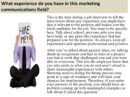 interview questions for marketing job top 10 marketing communications interview questions and answers