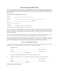 Medical Power Of Attorney Australia by Manitoba Health Care Directive Legal Forms And Business