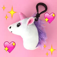 unicorn plush etsy emoji clip keychain accessories kawaii soft