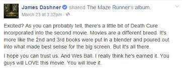 the death cure maze runner 3 split into two movies
