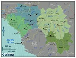 Guinea Africa Map by Large Regions Map Of Guinea Guinea Africa Mapsland Maps Of