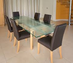 Beech Kitchen Table by Glass And Beech Extending Dining Table And 6 Chairs By John Lewis