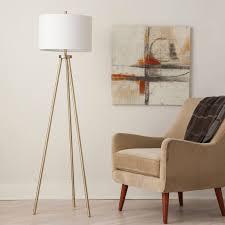 tripod floor lamp antique brass threshold u0026 153 ebay