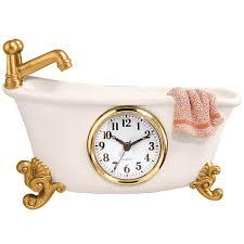 Claw Feet For Tub Bathtub Clock Bathroom Clocks Bathroom U0026 Shower Miles Kimball