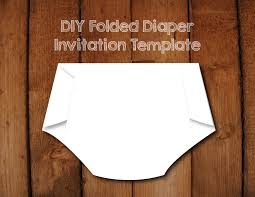 folded diaper invitation diy template with instructions how