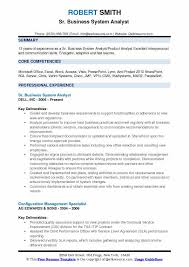 Systems Analyst Resume Sample by Business System Analyst Resume Samples Qwikresume