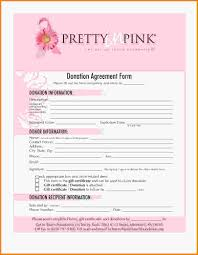 donation form template pip auction donation agreement jpg letter