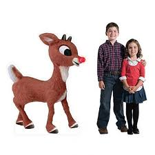 rudolph red nosed reindeer cardboard cutout standups standees