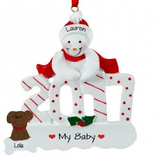 2017 snowman with ornament personalized ornaments for you