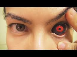 insert remove tokyo ghoul sclera contact lenses