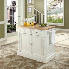 Butcher Block Top Kitchen Island Crosley Butcher Block Top Kitchen Island White 7743723 Hsn