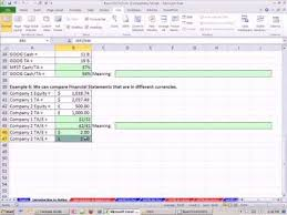Excel Template For Financial Analysis Excel Finance Class 14 Financial Statement Ratio Analysis 1