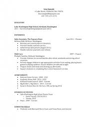 Resume With No Job Experience 100 No Job Experience Resume Exles 85 Best Resume Template