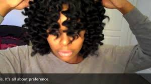 curling wand on natural hair natural black hair