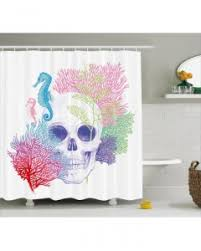 halloween shower curtain dancing skeletons print for bathroom