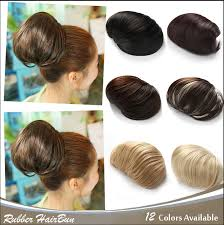 black hair buns for sale factory direct sale 5 color synthetic clip in ballet donut smooth