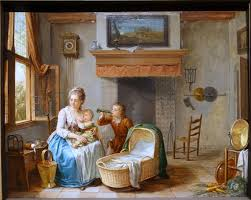 file interior scene willem joseph lacquy 1700s oil on wood