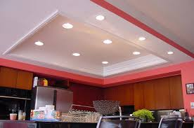 modern white and red nuance of the led kitchen light that has