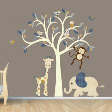 wall decals stickers animals with animal wall decals wall decal cute animal zoo nursery wall decal vinyl wall art jungle wall intended