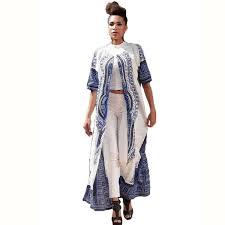 autumnfall women casual elastic cloak traditional african print