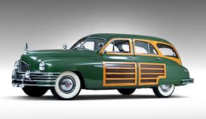 green station wagon with wood paneling uncommon woody 1948 packard station sedan