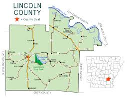 county map lincoln county map encyclopedia of arkansas