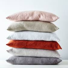 stonewashed linen pillow 22